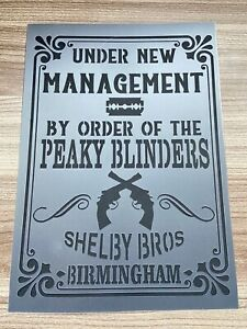 Peaky Blinders Stencil , Bar Sign ,Barrel Pub Wall Alcohol Decor Whisky Crate A4