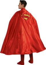 "ADULT RED SUPERMAN CAPE MAN OF STEEL SUPER MAN SUPERHERO COSTUME CAPE 888202 50"""