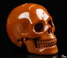 "2.0"" RED JASPER Carved Crystal Skull, Realistic, Crystal Healing"