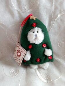 "Boyds Bears Plush 2006 5""  Christmas Tree Bear Buttons!  ADORABLE!"