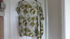 Fab Femmes Vert Mix Drop épaule s'sleeved Oversize Top, Taille UK 10
