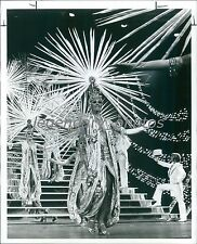 Las Vegas Dancers in Intricate Costumes Original News Service Photo