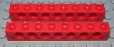 Lego Technic Lochstein 1x8 Rot 2 Stück                                    (1750)