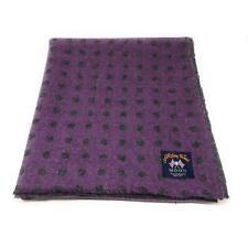 Pure Wool Tweed Blanket/Bedspread/Throw Purple Geometric Spot Reversible