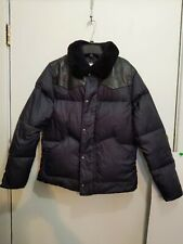 PENFIELD MEN'S YUKON LEATHER YOKE BLACK DOWN JACKET SIZE: XXL