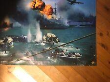 Us navy pearl harbour ww2 battle USA mancave flag vinyl print wallhanging bar