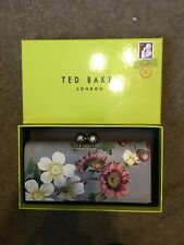 Bnwt Genuine Ted Baker Grey Leather Oracle Bobble Matinee Purse Abellon Rrp £89