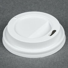 PAPER HOT CUP LID FITS ILLY LOGO 4oz , WITH HOLE TRAVEL LID  (*1/PK 100 COUNT*)