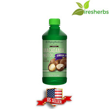 100% PURE ORGANIC VIRGIN MACADAMIA NUT OIL 1350MG COLD PRESSED COOKING 16 FL OZ