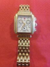 Michele chronograph dress watch Diamond unisex gold color MW06P00A9046