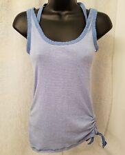 US Polo Assn Womens Blue White Striped Shirt Top Blouse Size M