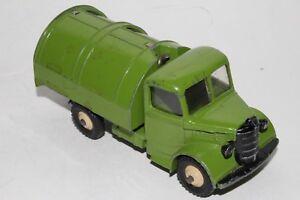 1950's Dinky #252 Bedford Garbage Truck, Green with Black Doors, Original