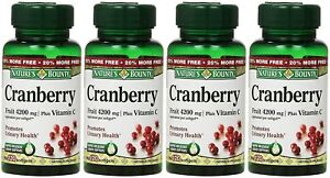 Nature's Bounty Cranberry Fruit 4200 mg, Plus Vitamin C, 120 Softgels, 4 Pack
