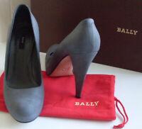 BALLY Switzerland Grey Platform Pump Heels Court Shoes Size UK 3.5 EU 36.5 US 6