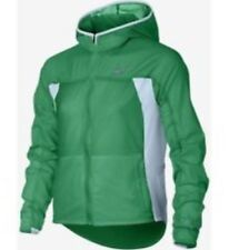 Nike Girls Impossibly Light Running Jacket Green/White Large