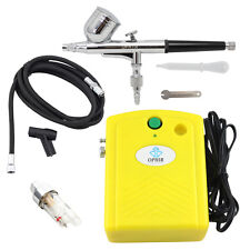 OPHIR 0.3mm Dual-Action Airbrush Air Compressor Kit  for Hobby Cake Nail Art