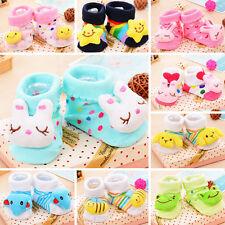 0- 6 Monat Neugeborene Baby Boy Cartoon Anti-Rutsch Socken Slipper Schuhe Stiefe