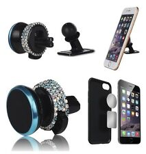 Car Accessory Bling Diamond Crystal Cellphone Mount Holder for Girls Women Blue