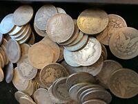 1878-1904 Morgan Silver Dollar Culls Pre-1921 Mix Dates, Lot of 5 Coins 1/4 Roll