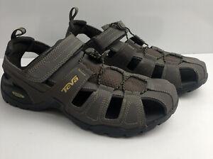 Teva Men Size 12 Adjustable Strap Comfort Leather Brown Fisherman Sandal 1001116
