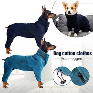 Dog Teddy Retriever Fleece Jumpsuit Winter Four Feet Parcel High Collar Clothes