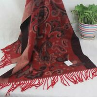 Sale New Womens Mans Jacquard 4-ply Cashmere Wool Soft Warm Wrap Shawl Scarf 244