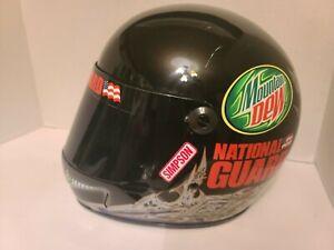 Dale Earnhardt Jr Replica Amp Mtn Dew National Guard Full Size Simpson Helmet