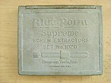 VINTAGE BLUE POINT SNAP-ON SUPREME SCREW EXTRACTORS SET No 1020 BOX