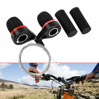 Mountain Bike Bicycle 18/21 Speed Twist Gear Shifter Set Pair w/ Grips & Cables
