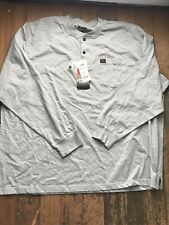 Wrangler Riggs Workwear Long Sleeve Pocket T Shirt.WARM GRAY  SIZE 3XL