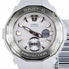 Casio Baby-G BGA-220 White Resin and Stainless Steel Women's Wrist Watch
