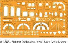 ARCHITECTS DRAFTING COMBINATION TEMPLATE - PLAN VIEW 1:50