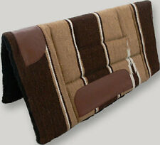 NEW Brown Western Stock Saddle Thick Fleece Pad Blanket Navajo Leather