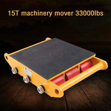 15 Ton 33000 lbs Heavy Machine Dolly Skate Machinery Roller Mover 9 Wheels