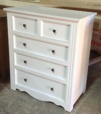 Chest of Drawers,Anzac 5 drawer lowboy WHITE
