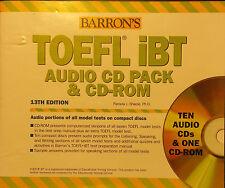 TOEFL IBT Audio CD pack & CD-ROM