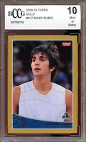 2009-10 Topps Gold #317 Ricky Rubio Rookie Card BGS BCCG 10 Mint+