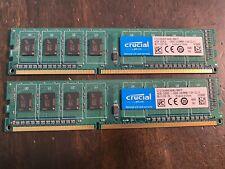 8 GB Desktop PC Memory RAM, Crucial by Micron, (4 GB x 2) DDR3 Memory Modules