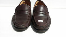 BALLY Mens Dark Brown Leather Loafers Shoes US Size 7.5 EEE