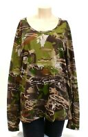 Under Armour Threadborne Forest Camo Long Sleeve Hunting Shirt Women's NWT