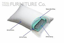 Protect a Bed Zefiro Microfiber Pillow With Pocket Springs Various Comfort Level
