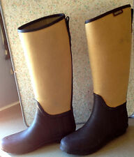 Hunter Canvas & Rubber Lady N Rain Boots Euro Size 40
