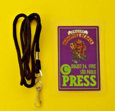 IRON MAIDEN BACKSTAGE PASS LAMINATE & LANYARD MONSTERS OF ROCK CONCERT AUTHENTIC