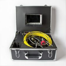 """Sewer Drain 7"""" LCD Monitor Waterproof Inspection Camera 30M 100FT Pipe DVR SD 8G"""
