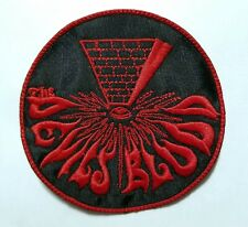 DEVILS BLOOD RED BORDER EMBROIDERED  PATCH