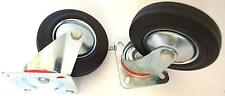 2-pc 5 Inch Swivel Caster Wheel Rubber Wheel Casters