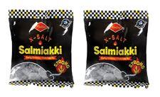 Halva X-Salt Salmiakki salmiac Salty Licorice 120g x 2 Bags from Finland