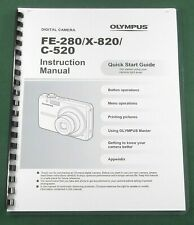 Olympus FE-280 Instruction Manual: 68 Pages & Protective Covers!