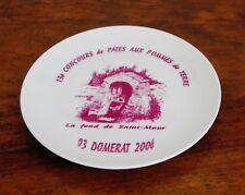 """Domérat, assiette concours de patés 2006, la Font de Saint-Maur ("""" fond """")"""