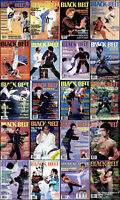 BLACK BELT MAGAZINE 80'S COMPLETE COLLECTION PDF 2XDVD-R FREE SHIPPING BRUCE LEE